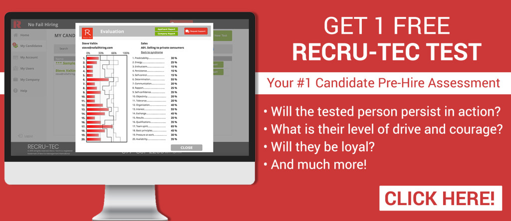 Free Recru-Tec Test by No Fail Hiring